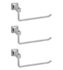 Doyours Glossy Stainless Steel 9 Inch Towel Hanger - Set of 3