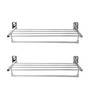 Doyours Glossy Stainless Steel 24 Inch Towel Rack Set