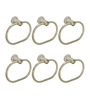 Doyours Oval Glossy Stainless Steel 7.8 x 1.5 x 3.1 inch Towel Ring - Set of 6