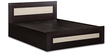 Dreamy King Bed with Storage in Wenge & Cross Line Finish by Debono