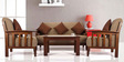 Dritto Sofa Set (3 + 1 + 1) Seater in Brown Colour by Vive