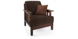 Dritto Sofa Set (3 + 1 + 1) Seater in Dark Brown Colour by Vive