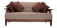 Dritto Three Seater Sofa in Brown Colour by Vive