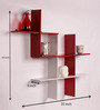 Dream Arts Two Toned White & Red Engineered Wood Wall Shelf