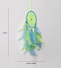 Rooh Wellness Neon Green & Blue Wool Dream Catcher