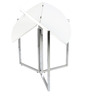 Dreamer Foldable Round Dining Table in White Colour by Gravity
