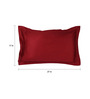 Dreamscape Red Cotton 27 x 17 Inch Pillow Cover - Set of 2