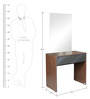 Dressing Table in Dark Brown Colour by Parin