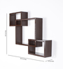 Driftingwood Brown MDF Intersecting Storage Wall Shelf