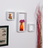 Barranquilla Set Of 3 Wall Shelf in White by CasaCraft