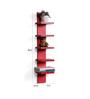 DriftingWood Red MDF 5 Tier Floating Wall Shelf