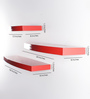 Driftingwood Red MDF Round Floating Wall Shelf - Set of 3