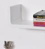 DriftingWood White MDF Curved U Shaped Wall Shelf - Set of 3