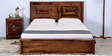 Dutton Queen Size Bed in Provincial Teak Finish by Woodsworth
