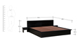 Duvall King Sized Bed with Two Bedside Table in Espresso Walnut Finish by Woodsworth