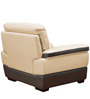 Duval Half Leather One Seater Sofa by HomeTown