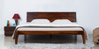 Dvina King Size Bed in Provincial Teak Finish by Woodsworth