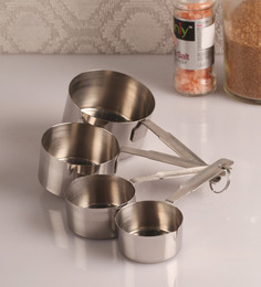 Dynore - Matte Finish Heavy Gauge Stainless Steel Set of 4 Measuring Cups