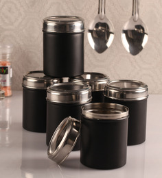 Dynore black 750 Ml Canister - Set of 6