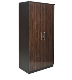 Dynamic Two Door Wardrobe in Wenge Colour by Crystal Furnitech
