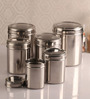 Dynore See through Silver Canister - Set of 6