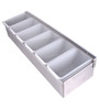 Dynore Silver Stainless Steel 600 ML 6-Compartments Condiment Set