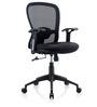 Dynamo Medium Back Ergonomic Chair in Black Colour by Oblique