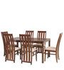 Hideyoshi Six Seater Dining Set in Walnut Finish by Mintwud