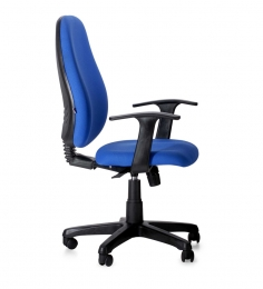 E -Pro II Mid Back Office Chair in Blue Colour by BlueBell Ergonomics
