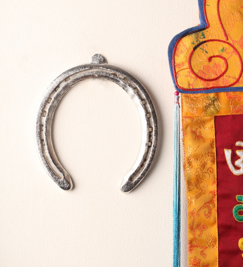 E-Studio Multicolor Metal Chrome Plated Genuine Horse Shoe  available at Pepperfry for Rs.859