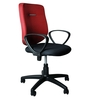 E-Buzz Mid Back Office Chair in Red and Black Dual Tone colour by BlueBell Ergonomics