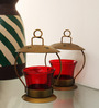 E-Studio Multicolour Antique Metal Tealight Holder