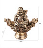 E-Studio Multicolor Metal Feng Shui Happy Man Sailing Showpiece