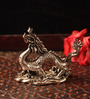 E-Studio Multicolor Metal Feng Shui Wisdom Dragon Showpiece