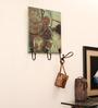 E-Studio Multicolour Teak Wood Key Hanger