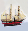 E-Studio Multicolour Solid Wood USS Susquehanna Ship Collectible