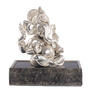 E-Studio Silver Matt Satin Finish Ganesha Showpiece