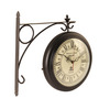 E-Studio Multicolor Teak Wood Two Sided Dia Dial Clock