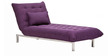 Easy lounge Daybed in Purple Colour by Furny
