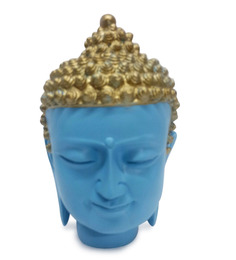 Earth Multicolour Polyresin Buddha Head Statue