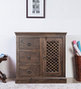 Earl Small Storage Cabinet in Provincial Teak Finish by Amberville