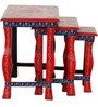 Vaditra Hand Painted Set Of Tables by Mudramark