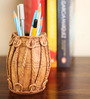 Earth Multicolor Polyresin Traditional Dholak Pen Stand