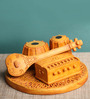 Earth Multicolour Polyresin Traditional Indian Music Showpiece
