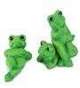 Earth Frog Green Polyresin Showpiece