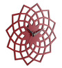 Earth Multicolor Wooden 12 x 12 Inch Contemporary Lotus Design Wall Clock