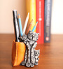 Earth Multicolor Polyresin Cat Pen Stand