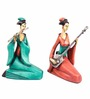 Earth Multicolour Polyresin Chinese Musicians Statue
