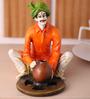 Earth Multicolour Polyresin Pot Maker Man Statue Showpiece