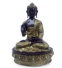 Earth Golden Polyresin Sitting Buddha Statue